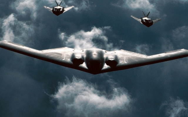 B-2 Spirit. Desktop wallpaper