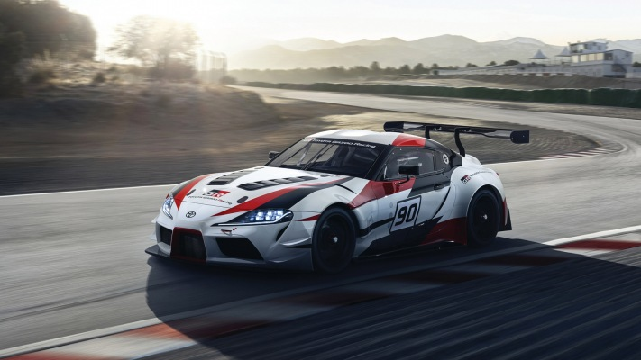 Toyota GR Supra Racing Concept 2018. Desktop wallpaper