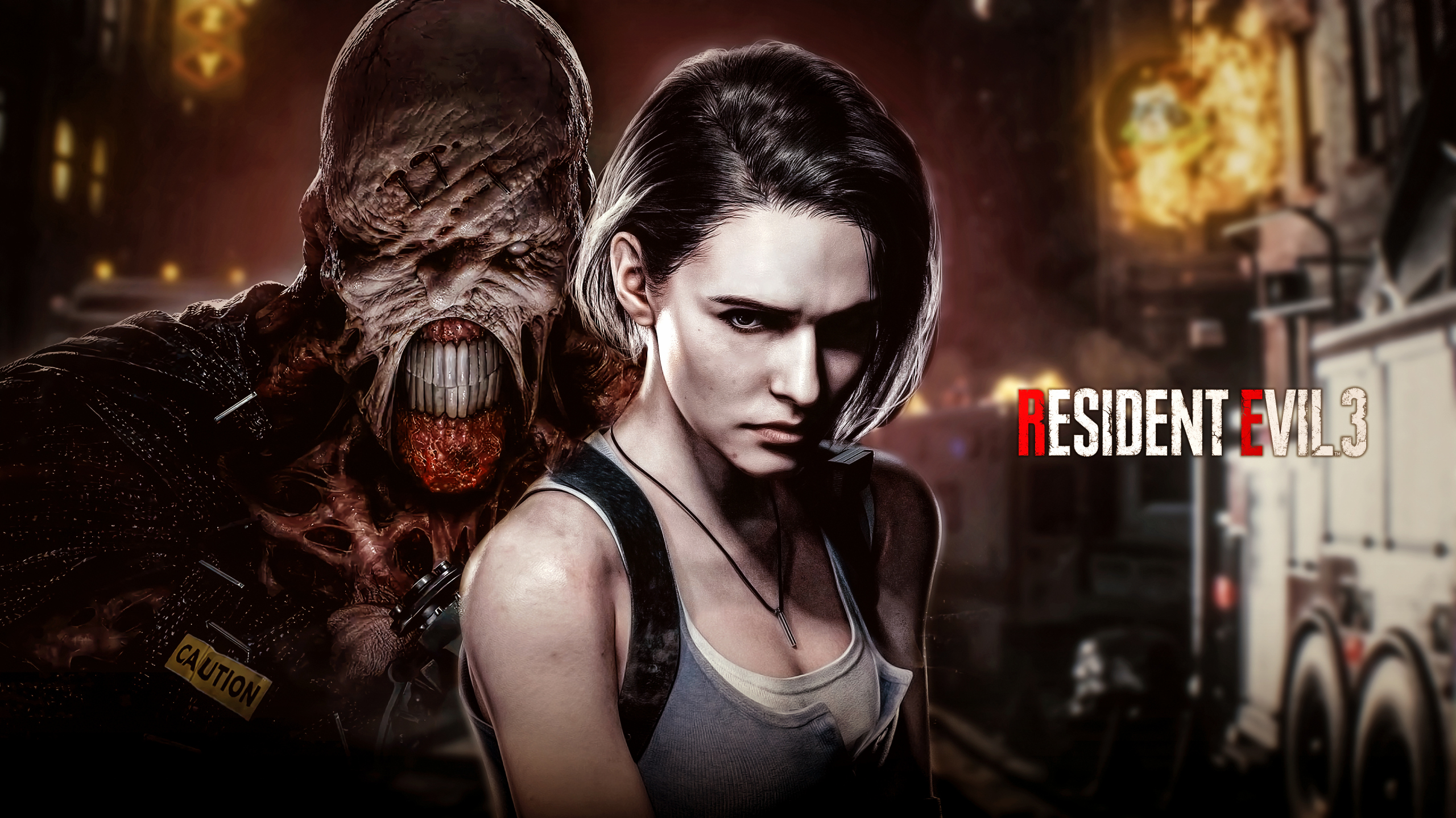 Resident Evil 3 2020 Desktop Wallpaper 2560x1440